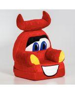 Verdák Plüss Fotel piros (ággyá alakítható!)