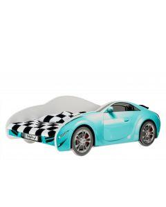 Autós gyerekágy MATRAC NÉLKÜL (160 X 80 kék)