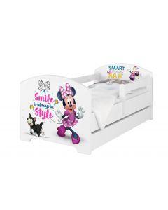 Disney Minnie3 egeres Ágy 140 X 70 leesésgátlós AJÁNDÉK MATRACCAL, ágyneműtartóval