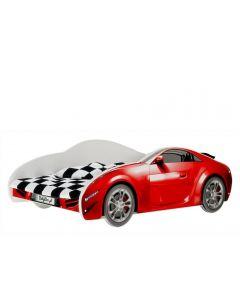 Autós gyerekágy MATRACCAL (160 X 80 piros)