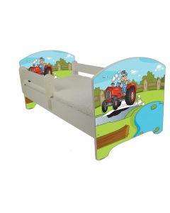 Traktoros Ágy 140 X 70 leesésgátlós AJÁNDÉK MATRACCAL