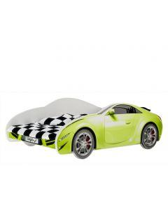Autós gyerekágy MATRACCAL (140 X 70 zöld)